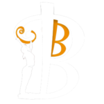Orange and white logo