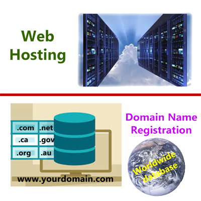 Web Hosting vs Domain Registration - featire
